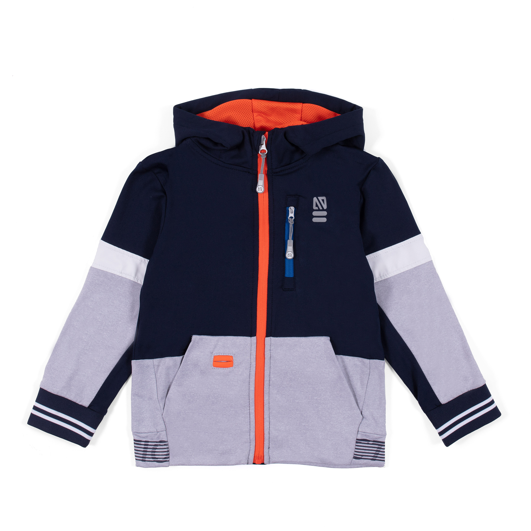 Athletic zip hoodie - Navy - Boys