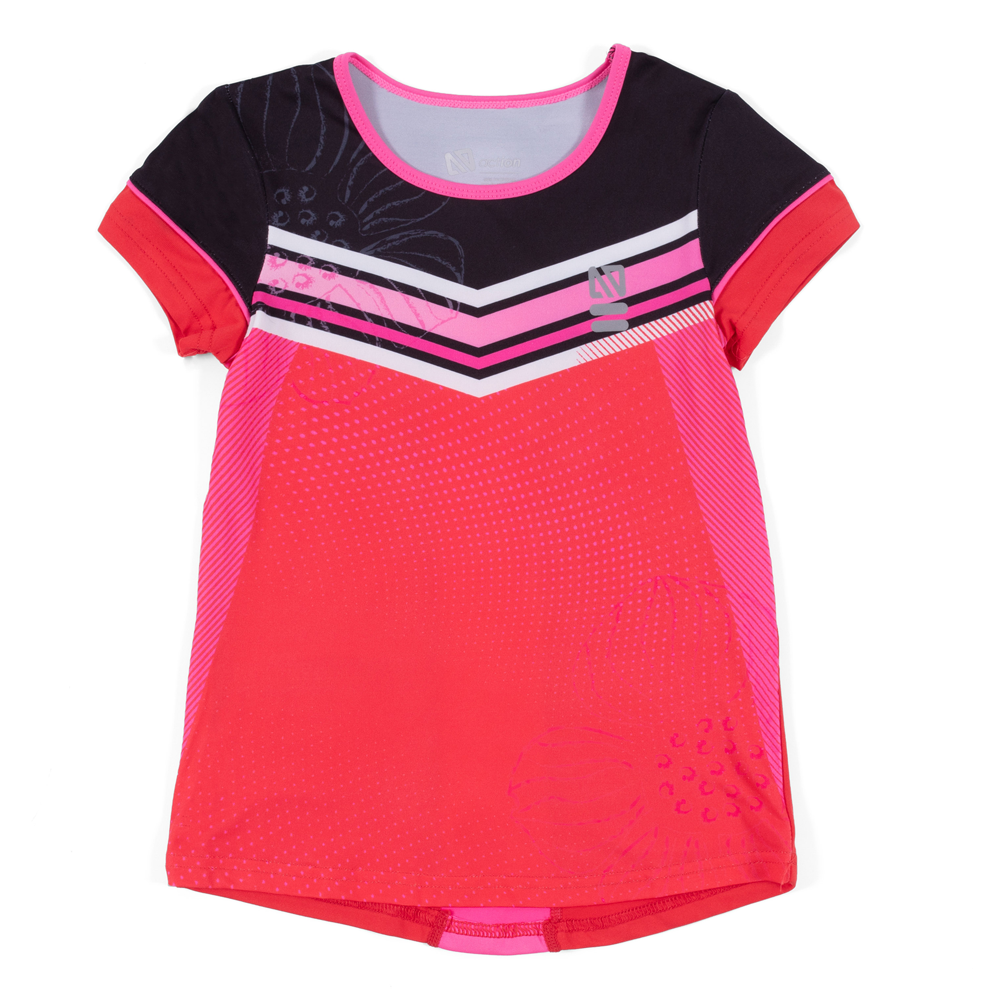 Athletic T-Shirt - Red - Girls