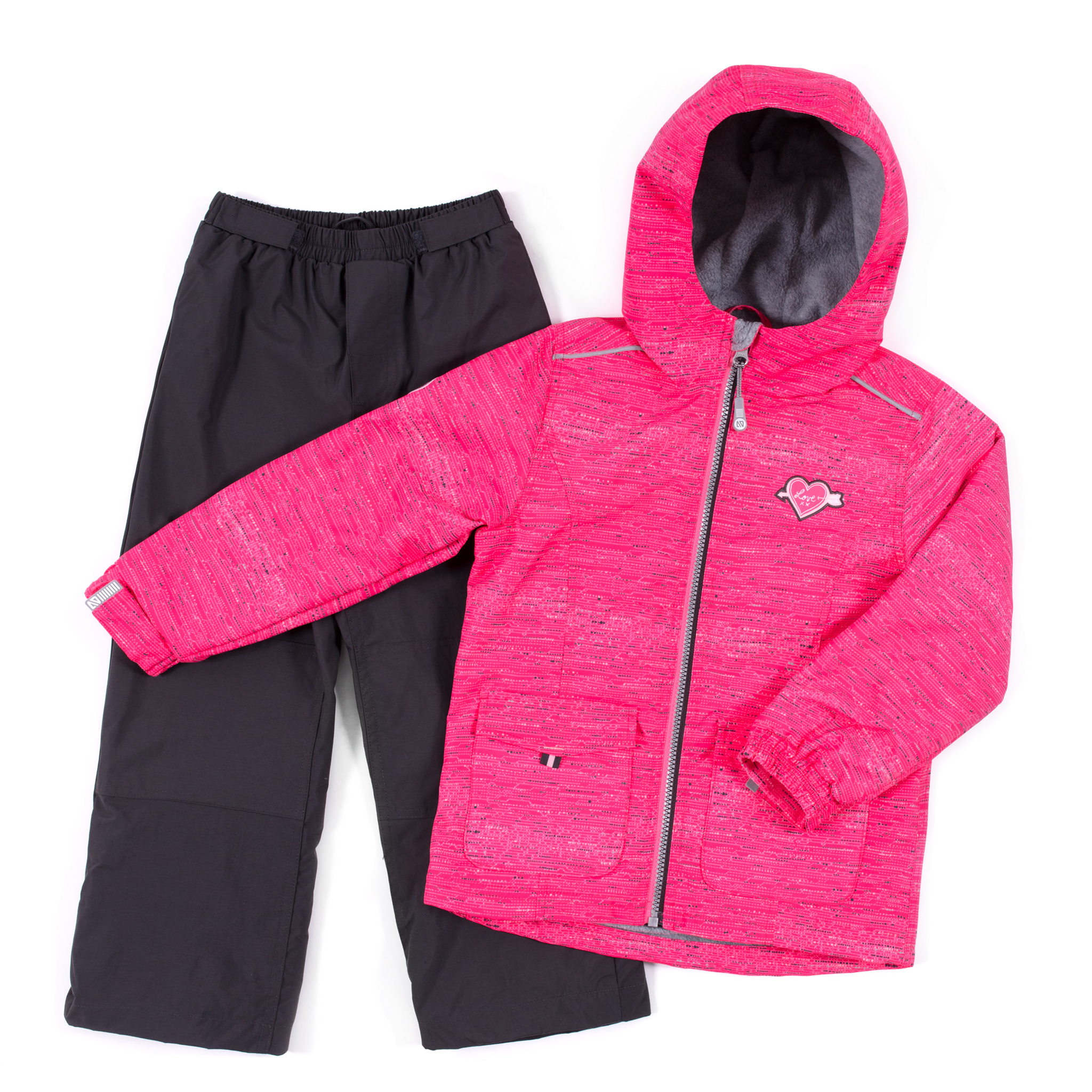 2 pcs outerwear Rome - Fuchsia - Girls