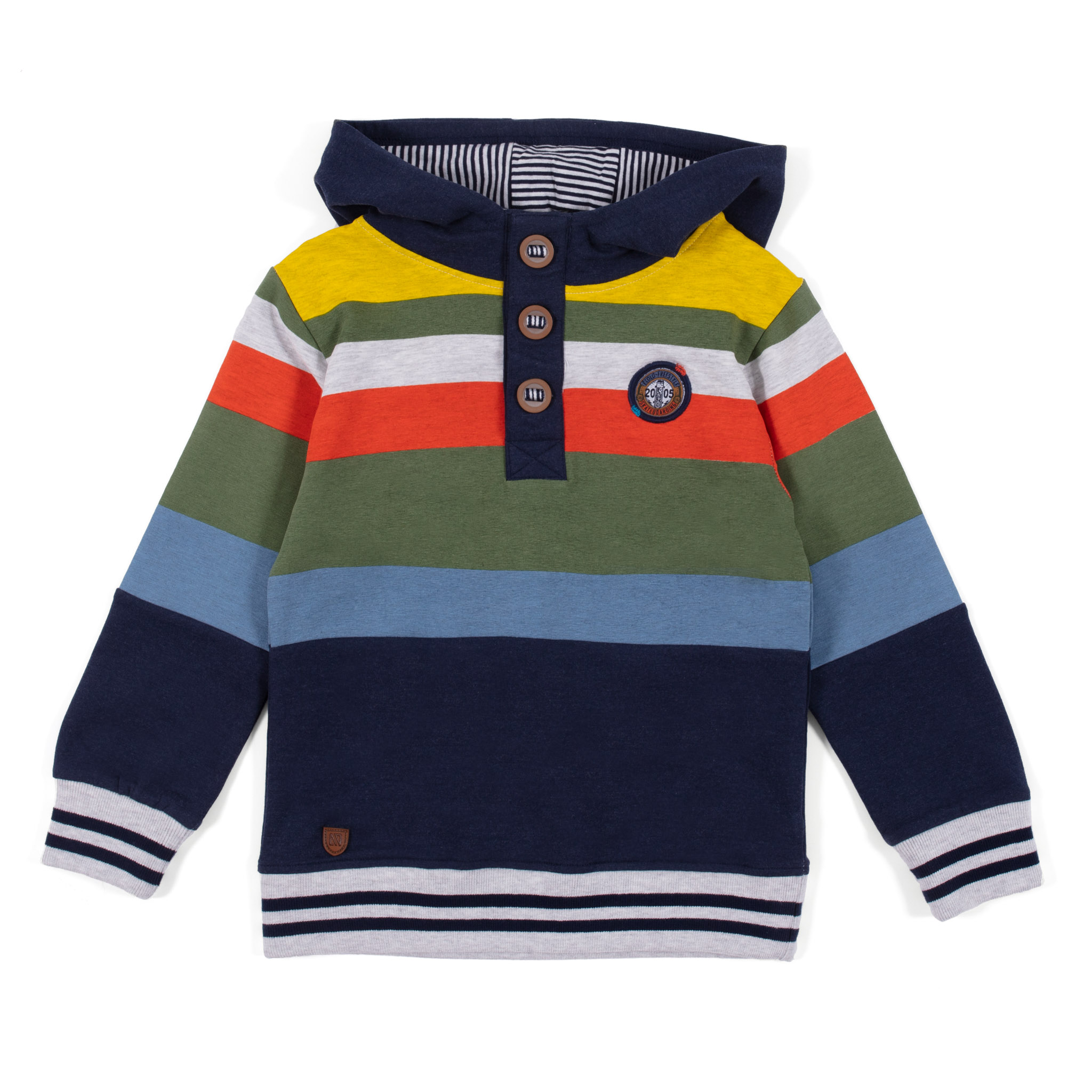 Half buttoned hoodie - Navy - Boys