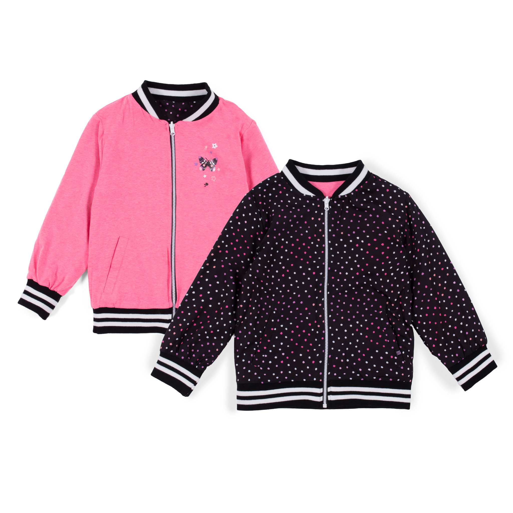 Reversible bomber jacket - Black - Girls
