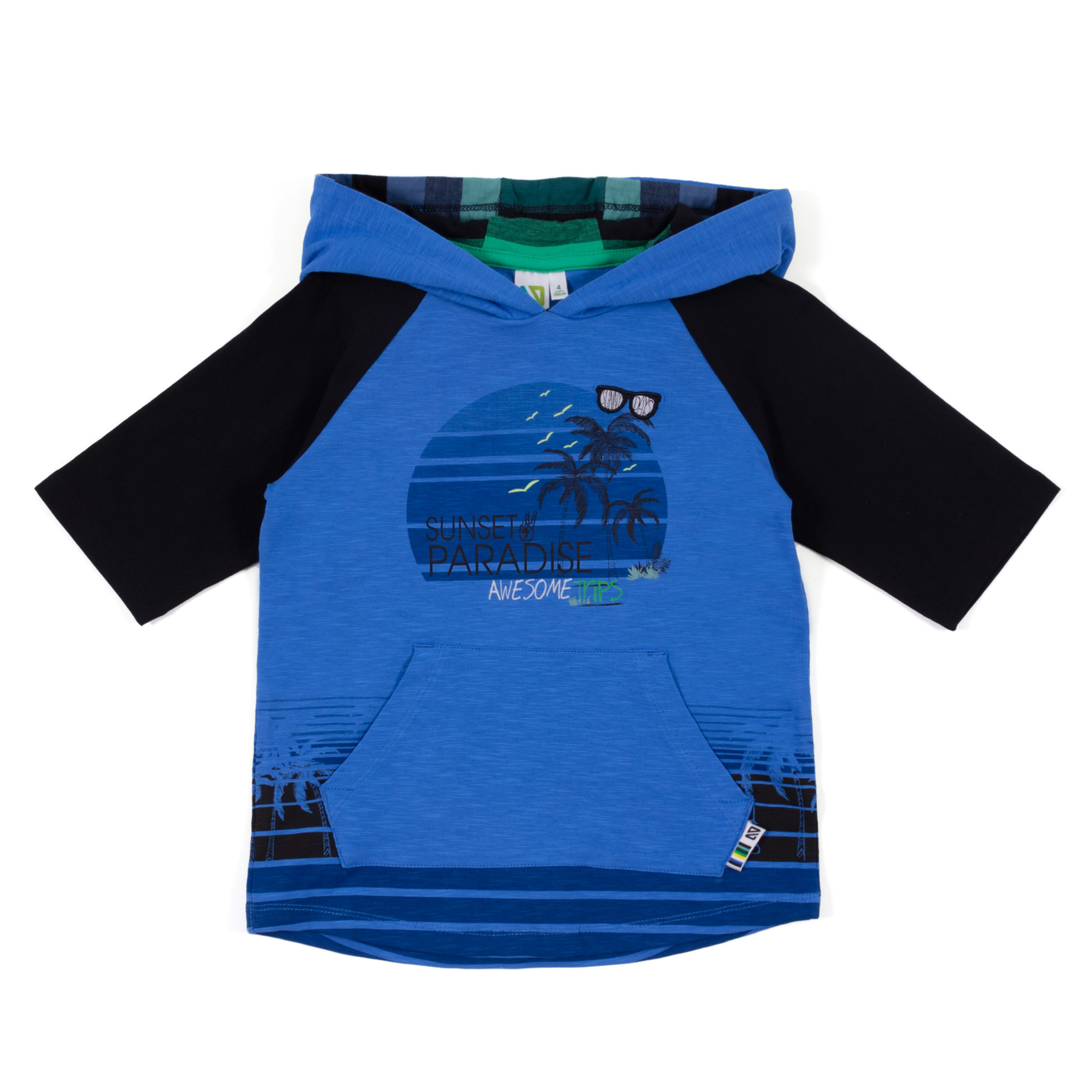 Hooded t-shirt - Royal - Boys