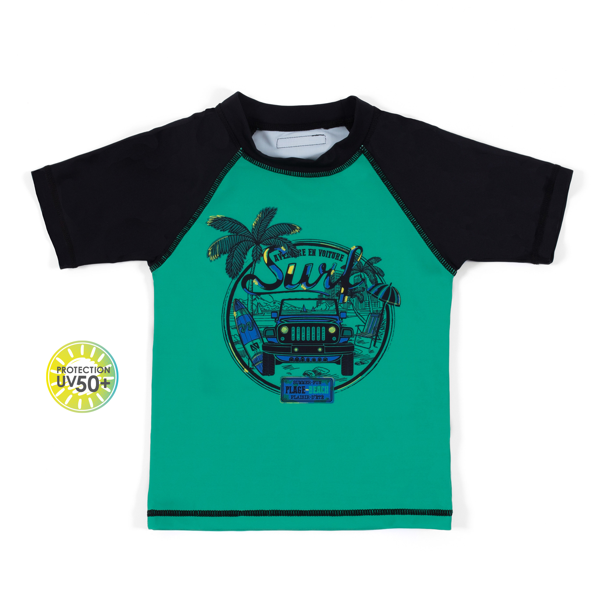 Rashguard T-Shirt - Green - Boys