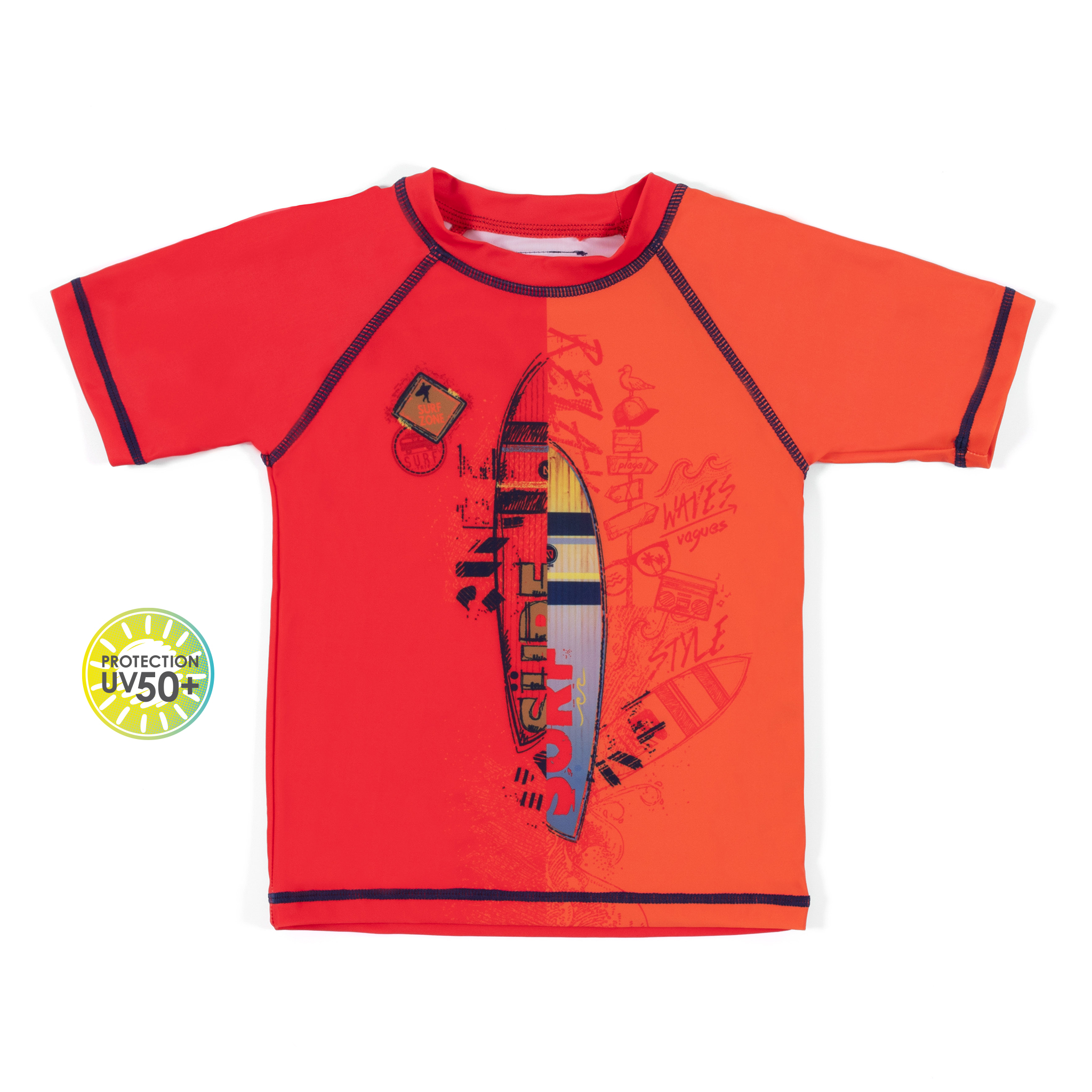 Rashguard T-Shirt - Red - Boys