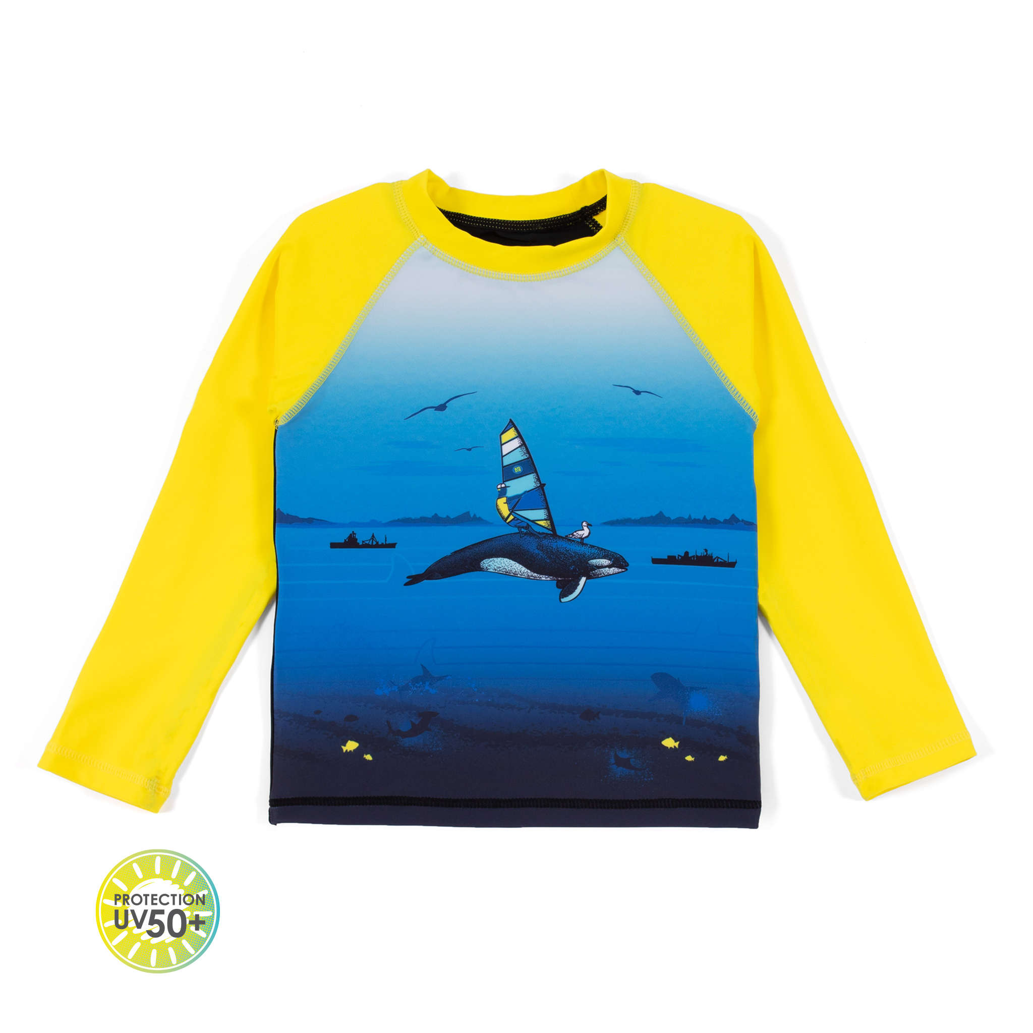 L/S Rashguard T-Shirt - Black - Boys